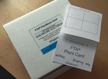 Whatman FTA PlantSaver Cards have arrived!
