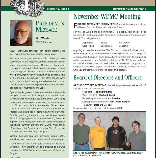 November -December 2013 newsletter published