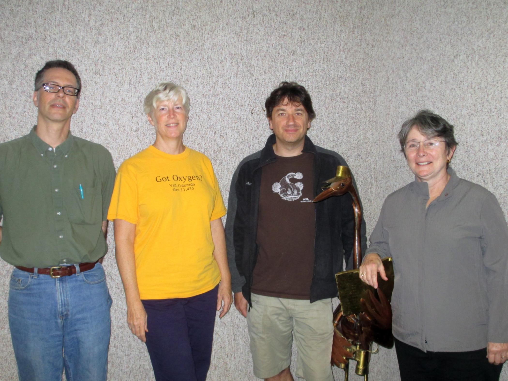 L to R: Todd Kaufmann, Fluff Berger, Richard Jacob, Barbara DeRiso (Scott Pavelle, not present)
