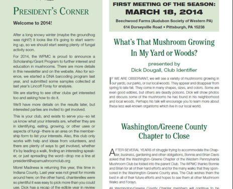 March-April 2014 newsletter published