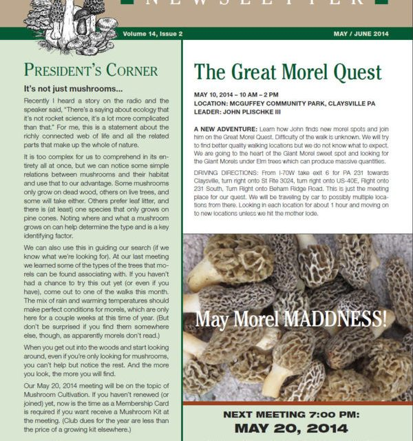 May-June 2014 newsletter published