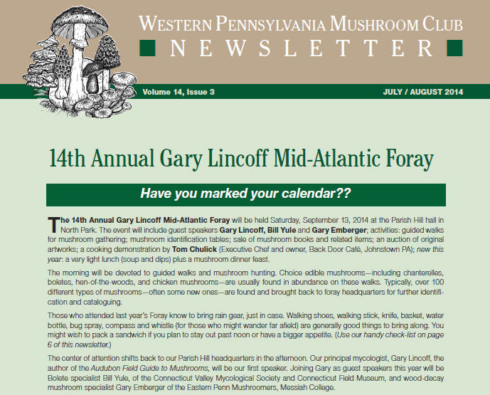 July-August 2014 newsletter published