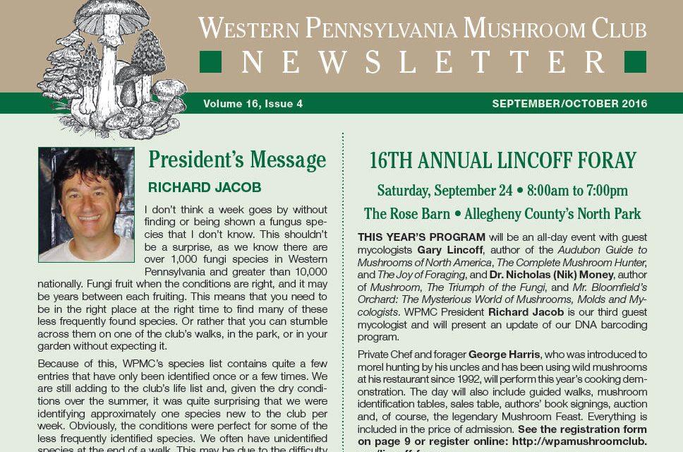September-October 2016 newsletter published
