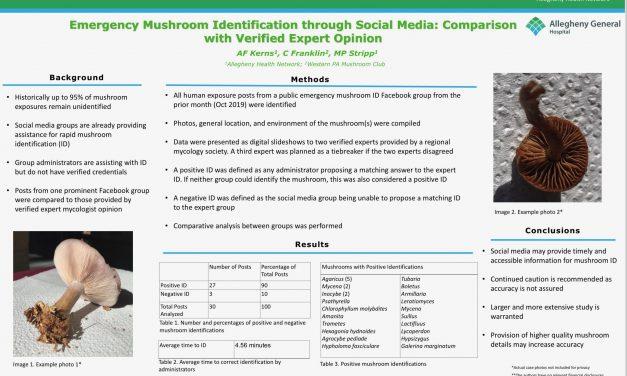 Emergency Mushroom Identification through Social Media: Comparison with Verified Expert Opinion